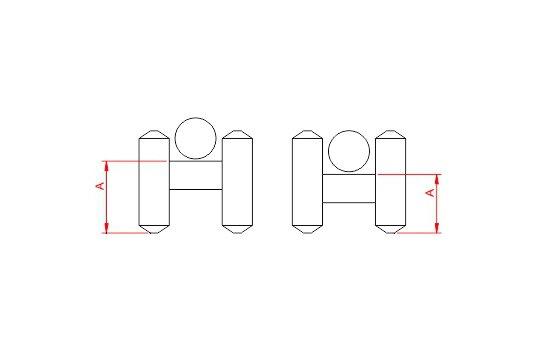 Desenho Técnico da peça Espaçador Cadeirinha