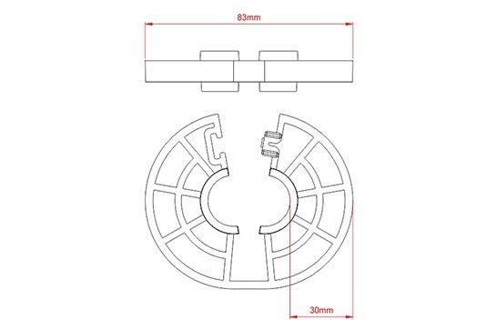 Desenho Técnico   BP - Espaçador Bipartido