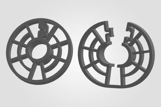 2° Ilustração 3D  BP - Espaçador Bipartido