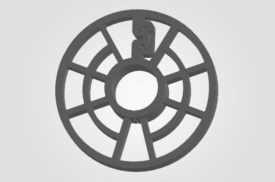 3° Ilustração 3D BP - Espaçador Bipartido