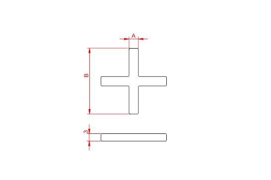 Desenho Técnico  Espaçador Cruzeta