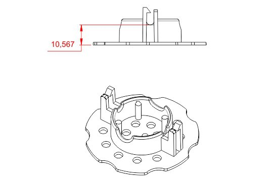 Desenho Técnico  ISO 10 - Espaçador Isopor