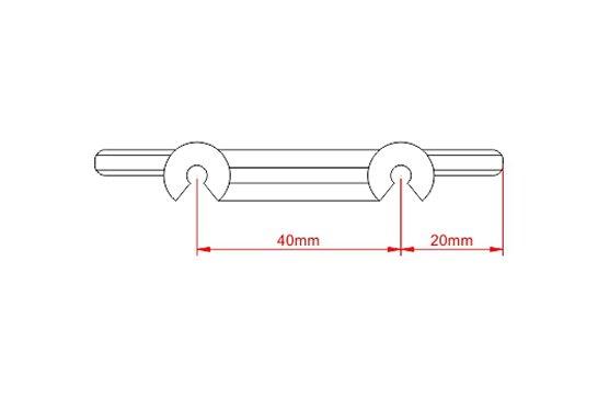 Desenho Técnico  PTD 4020 Espaçador de Tela Simples