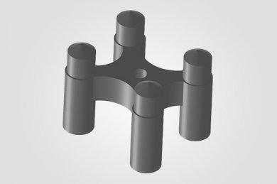 Ilustração 3D Espaçador Apoio Cadeirinha