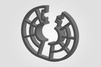 Ilustração 3D  BP - Espaçador Bipartido