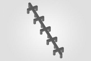 Espaçador para Concreto AF - Apoio de Ferro (Centopeia)