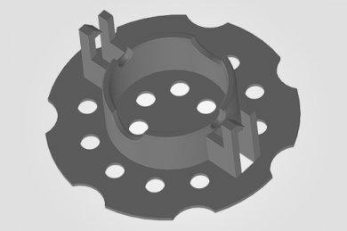 Ilustração 3D  ISO 10 - Espaçador Isopor