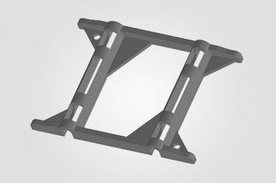 Ilustração 3D  TD 4020 Espaçador de Tela Dupla.