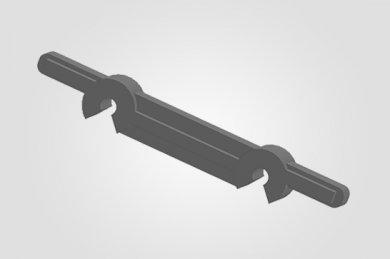 Ilustração 3D  PTD 4020 Espaçador de Tela Simples
