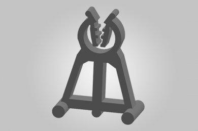 Ilustração 3D AE Apoio com Engate (4-6/15)