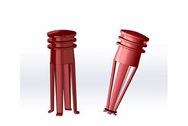 Espaçador para Concreto PB Protetor de Ferro / Vergalão com Borracha