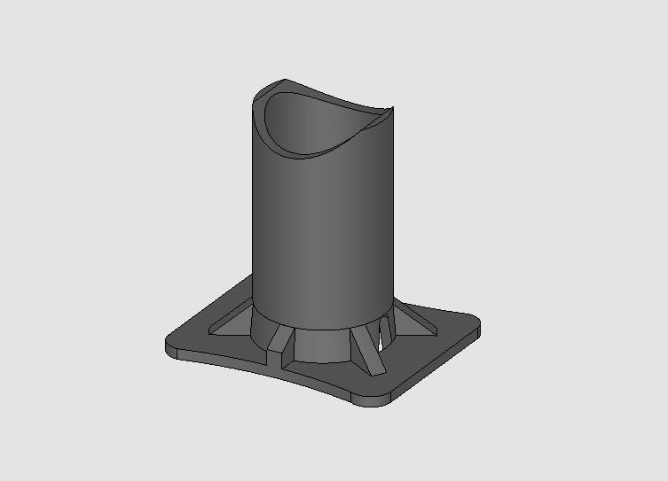 Imagem 3D  Apoio para cordoalha